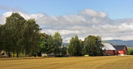 oslo: A typical Norwegian farm near Oslo