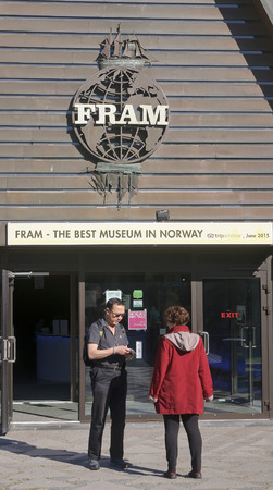 OSLO, NORWAY - SEPTEMBER 17, 2016:  Museum od Ship Fram on 17 September 2016 in Oslo, Norway. Museum telling the story of Norwegian polar exploration. It is located on the peninsula of Bygdoy