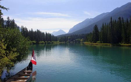 Rocky Mountain - view of the Bow river near Banff (Canada)