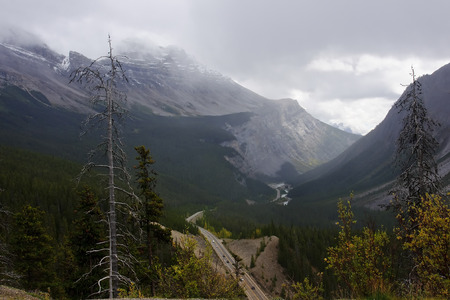 icefield: View from icefields parkway near columbia icefield (Canada) Stock Photo