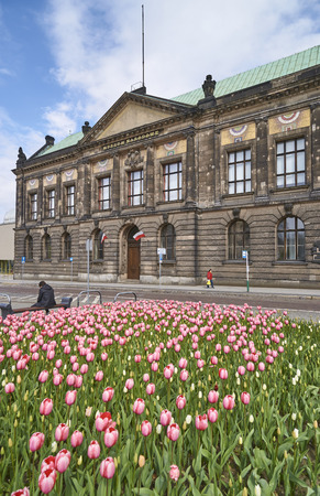 POZNAN, POLAND - APRIL 29 2017: National Museum on 29 April 2017 in Poznan, Poland. In the national museum there are many interesting works of art not only Polish artists