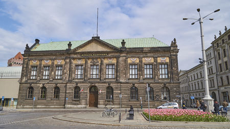 cupolas: POZNAN, POLAND - APRIL 29 2017: National Museum on 29 April 2017 in Poznan, Poland. In the national museum there are many interesting works of art not only Polish artists