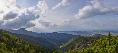 View of Jaworzynka valley in Polish Tatra Mountain from path to Hala Gasiennicowa.