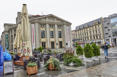 KATOWICE, POLAND - SEPTEMBER 16, 2017: Stanislaw Wyspianski Theatre on 16 September 2017 in Katowice, Poland. The theater is located in the center of town and it is a historical site Editorial