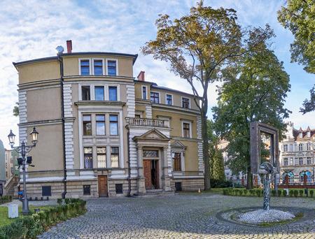 GLIWICE, POLAND - SEPTEMBER 14, 2017: Museum Villa Caro on 14 September 2017 in Gliwice, Poland.. In the building there are original 19th century burger interiors