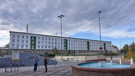 GLIWICE, POLAND - SEPTEMBER 14, 2017: Silesian University of Technology Building on 14 September 2017 in Gliwice, Poland.  Silesian University is one of the largest technical universities in Poland Editorial