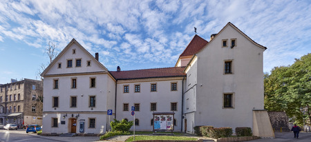 GLIWICE, POLAND - SEPTEMBER 14, 2017: Piast Castle on 14 September 2017 in Gliwice, Poland..The castle from the mid 14th century located in the center of Gliwice