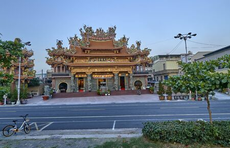 One of the temples on the island of Cijin in the city of Kaohsiung in Taiwan Stock Photo