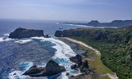 View of the island of Lu Dao english name Green Island in Taiwan
