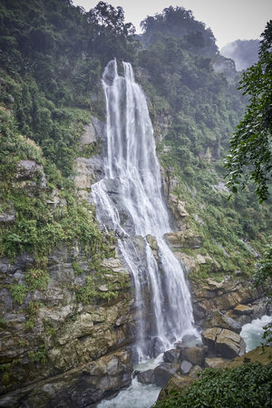 Wulai is a town near Taipei (Taiwan) with a beautiful waterfall and picturesque mountains