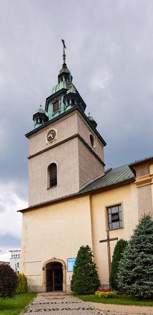 KETY, Poland, Church Saint. Malgorzaty and Katarzyna. The baroque church built in 1657-1685 is located near the main square