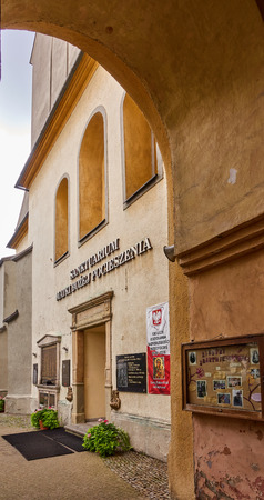 KETY, POLAND - JULY 15, 2018: Church Saint. Malgorzaty and Katarzyna on 15 July 2018 in Kety, Poland. The baroque church built in 1657-1685 is located near the main square