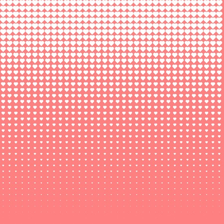 Vector halftone love. White loves on pink background.