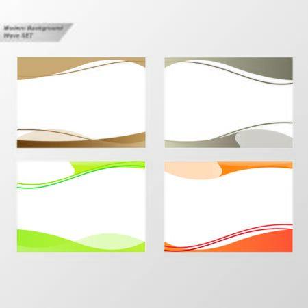 Wave Background Set Ilustracja