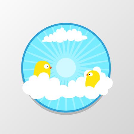 Bird in The Sky Ilustracja