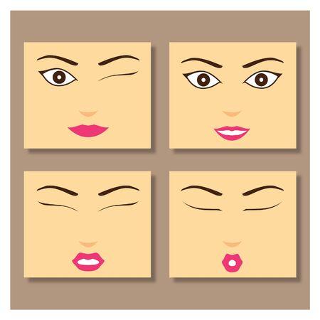 Girl Face Ilustração