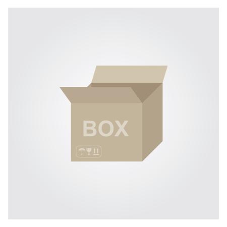 Cardboard Box Opened 向量圖像