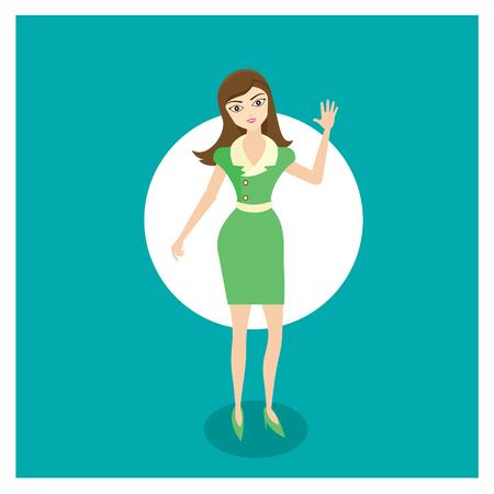 frau ganzk�rper: Frauen illustration Illustration