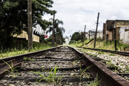 Abandoned rail line in a precarious region of a large metropolis
