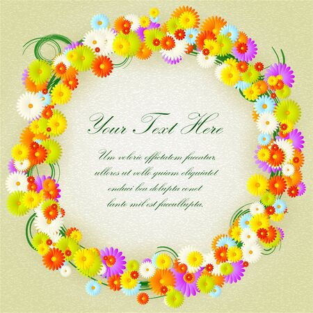 Flower circle  Stock Vector - 14240090