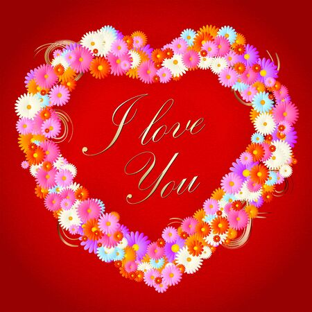 Flower heart frame Stock Vector - 14240089