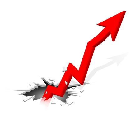 Groundbreaking growing up arrow Stock Vector - 14240085
