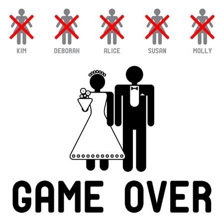 juego: S�mbolo de la boda divertida - Game Over