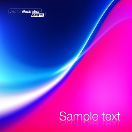 Abstract blue and pink wave background Stock Vector - 14515804