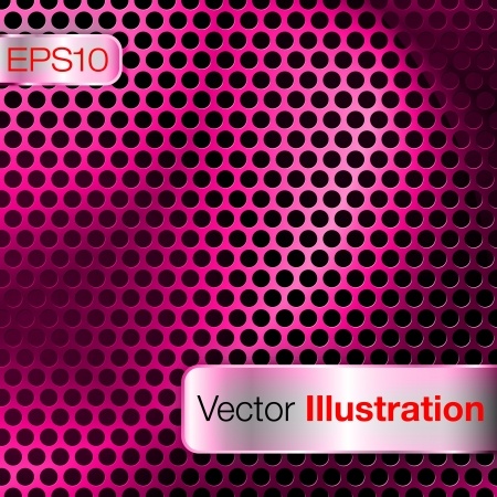 Magenta dot matrix background Vector
