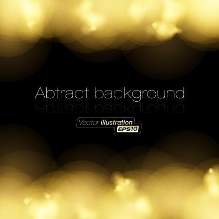 shining light: De oro la luz de fondo de medios tonos Vectores