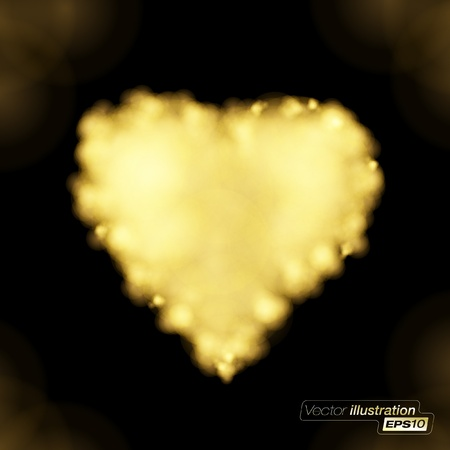 heart in flame: Flaming Golden heart