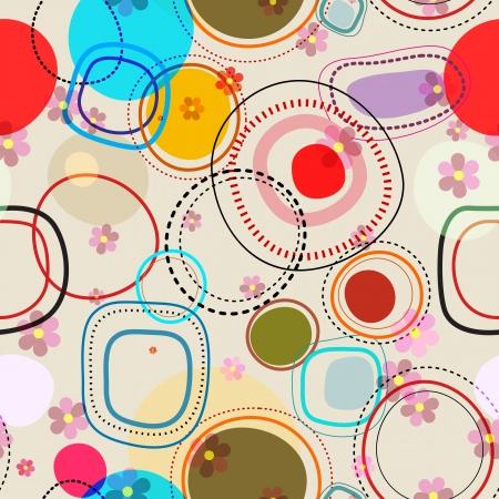 Nahtlose Retro-Hintergrund Illustration