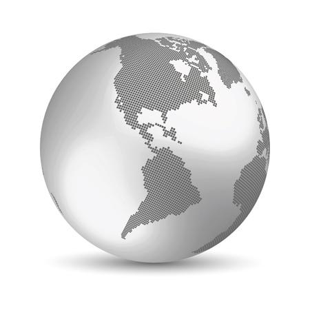 Digital Earth concept Vector