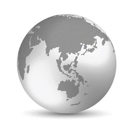 globo terraqueo: Concepto de la Tierra Digital
