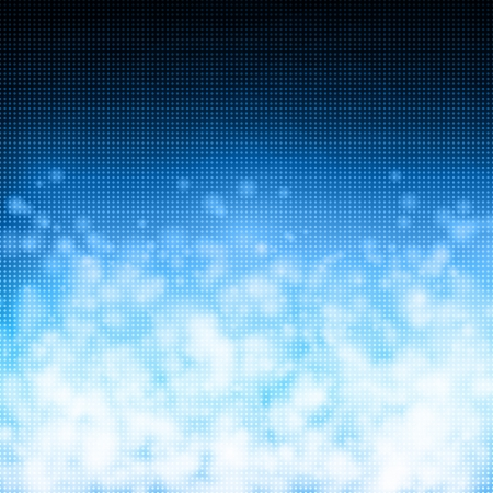 Bubbles on matrix technology background Vector