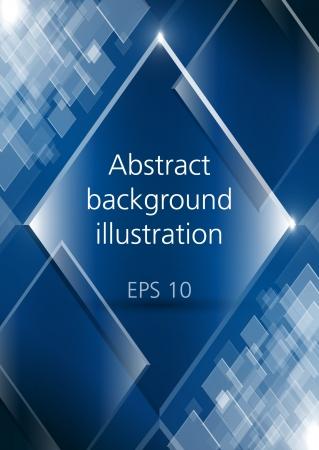 abstracte vormen: Abstract glanzende rechthoeken blauwe vector achtergrond