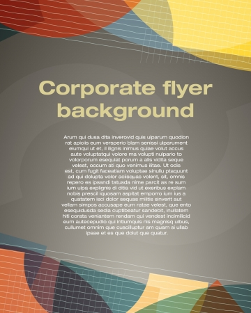 Corporate flyer background Vector