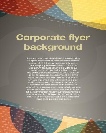 Unternehmens-Flyer Hintergrund