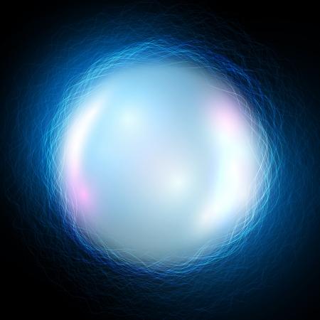 Vector Magic Ball auf blauem Hintergrund Wellen Illustration