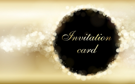 Gold invitation card vector template Stock Vector - 14515782