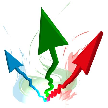 investment metaphor money: Growth arrows vector illustration