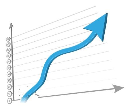 Increasing arrow vector illustration Stock Vector - 14515846