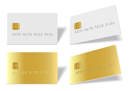 separated: Separated blank chip cards