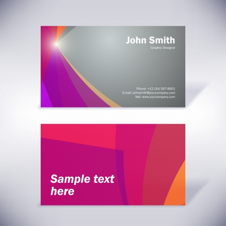 Colorful business-card Vector