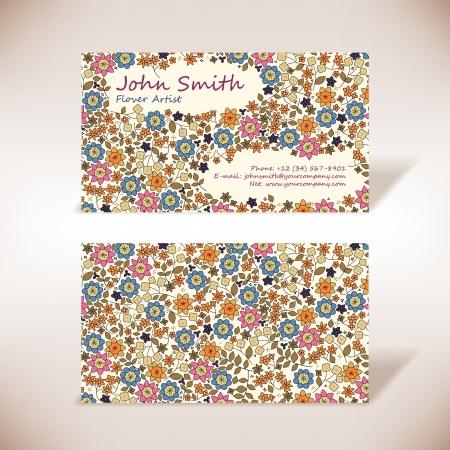 flores peque�as: Peque�as flores tarjeta de visita
