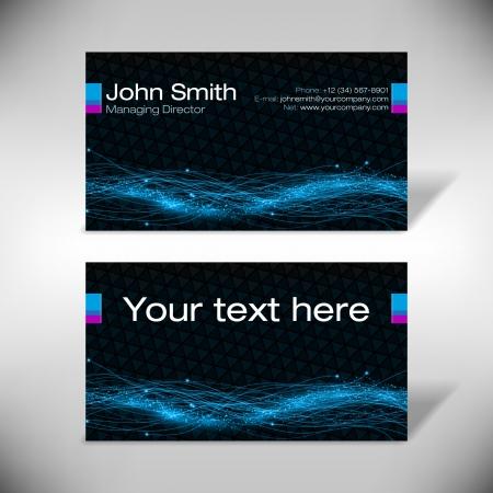 businesscard: Futuristic business-card Illustration