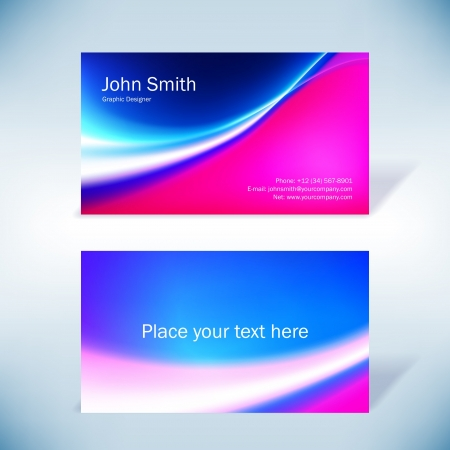 Colorful business-card Vettoriali