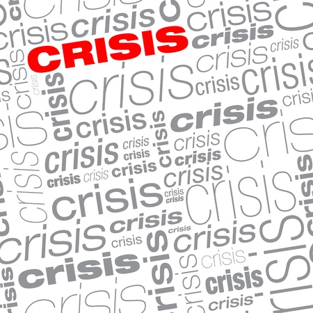 Seamless crisis text background Vector
