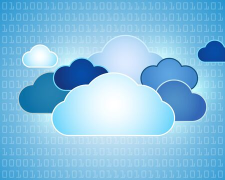 Abstract data cloud illustration Vector