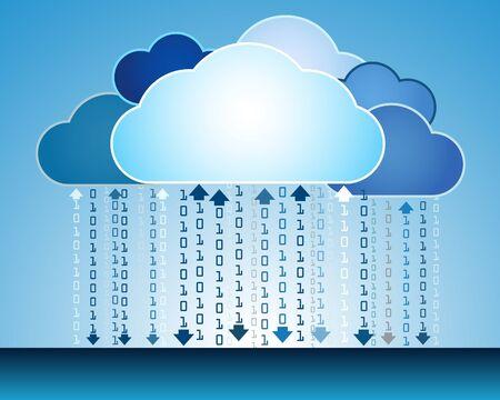 Abstract data cloud illustration Stock Vector - 14559606